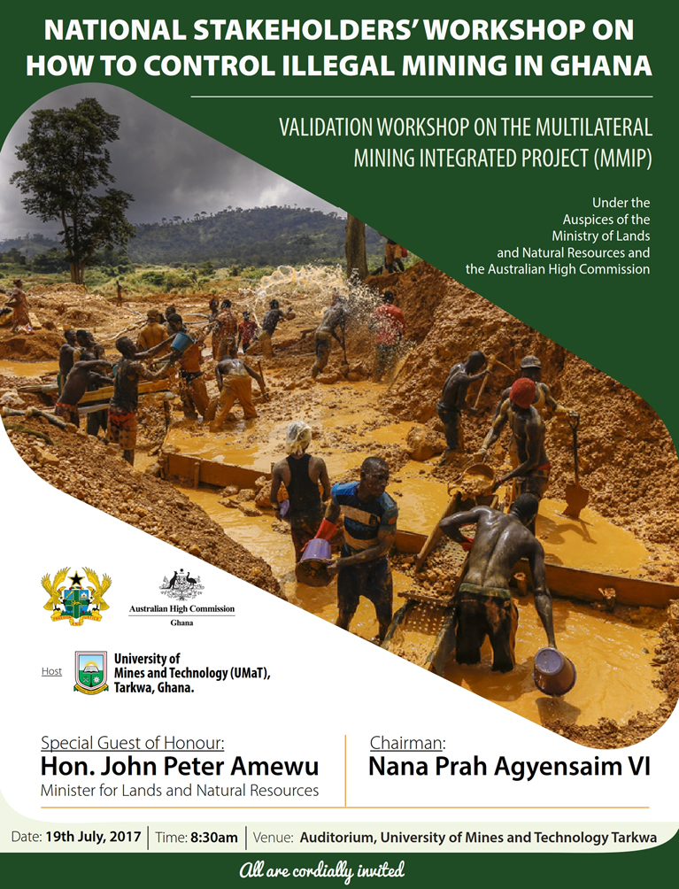 National Stakeholders; Workshop on How to Control Illegal Mining In Ghana
