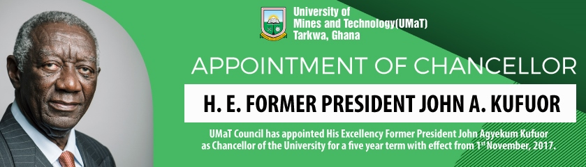 His Excellency Former President John Agyekum Kufuor Appointed Chancellor of UMaT
