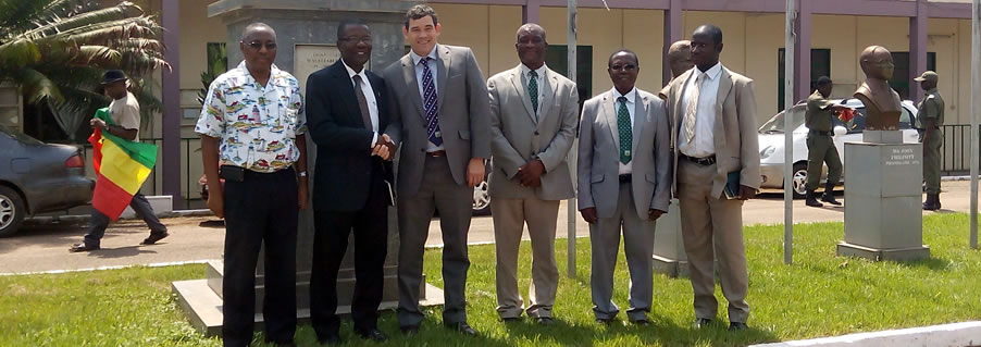 The Deputy High Commissioner 3rd from left in a Group Photograph with Officials of UMaT