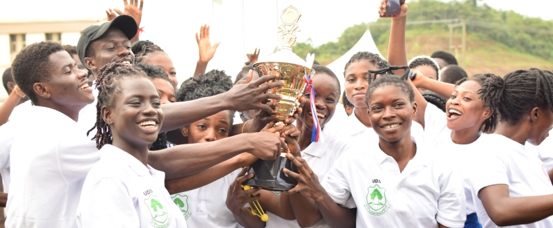 The UDS Female Team Jubilating for Wining the Womens Race