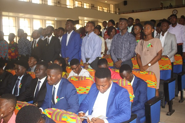 A section of the Students Taking the Matriculation Oath