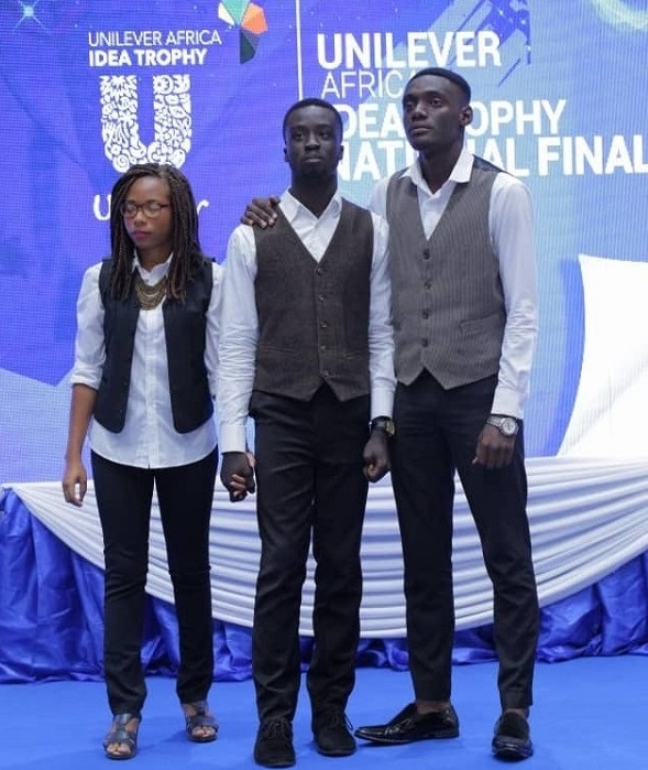 From Left to Right Miss Sedina Abla Seglah Ernest Adjei Jnr and Joseph Hagan 1