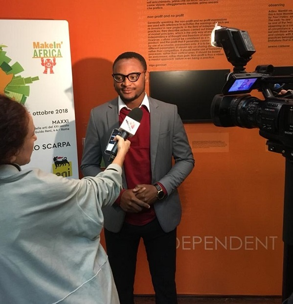 Prince Essel Speaking to the Media After the Competition 1