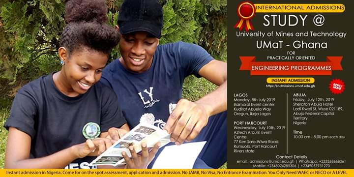On The Spot Admission in Nigeria, July 2019
