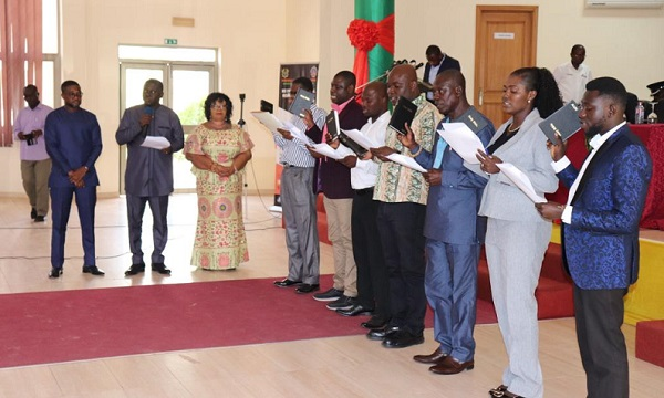 Hon Owusu Bio Swearing in Members of the LMC