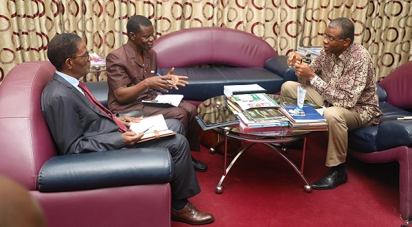 A Delegation from ESTAM from Abidjan, Cote d'Ivoire Visits  Vice Chancellor of UMaT