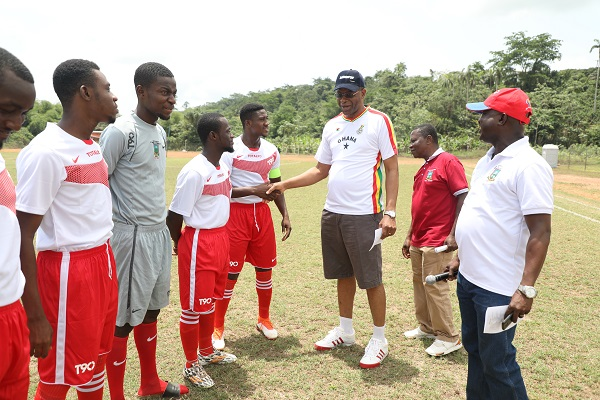 The Vice Chancellor Inspecting the Teams before Kick off