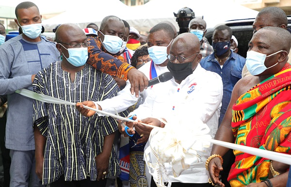 His Excellency President Nana Addo Dankwa Akufo-Addo Commissions Projects at the University of Mines and Technology