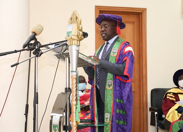 Prof Amankwah Delivering his Speech
