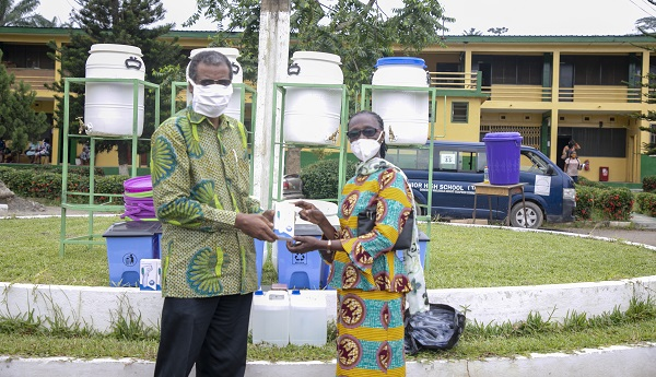 UMaT donates Personal Protective Equipment to Two Senior High Schools in Tarkwa