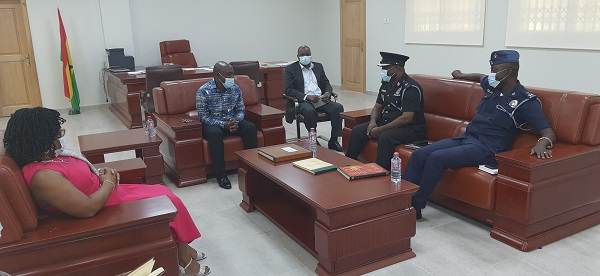 Tarkwa Divisional Commander of the Ghana Police Service Pays Courtesy Call  on Vice Chancellor